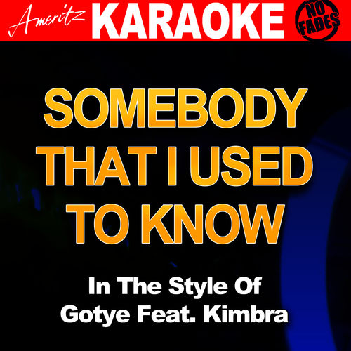 Somebody That I Used To Know (In The Style Of Gotye Feat ...